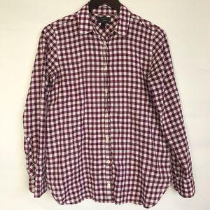 J CREW Boy Shirt in Gingham